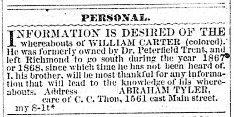 Daily Dispatch. Richmond VA. May 8 1876.jp2