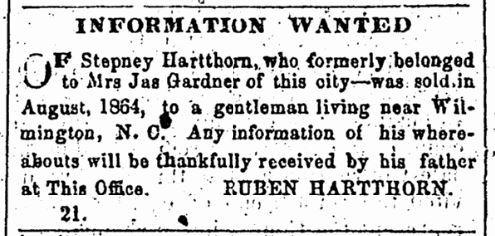1866.03.10. Stepney Hartthorn. Loyal Georgian (Augusta, GA) p4.jpg