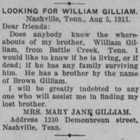 Mary Jane Gilliam searching for her brother