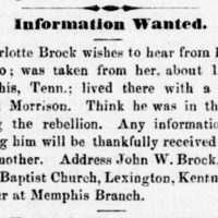 Charlotte Brock searching for her son Alonzo Brock