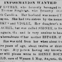 Rachel is looking for her mother Esther Simmons