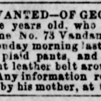 Unnamed mother searching for her son George Demonet