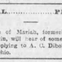 A. C. Diboll, attorney, searching for Mariah's children