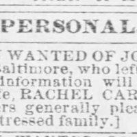 Rachel Carter searching for her husband, Joseph Carter