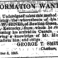 George T. Smith searching for his brother
