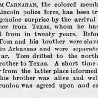 Tom Carnahan, the only black police officer in Lincoln, NE, finds his brother after two decades