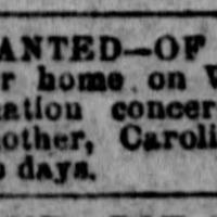 Caroline B. Price searching for her daughter