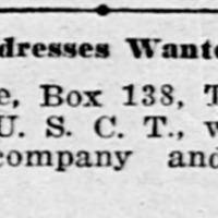 S. T. Moore looking for former servicemembers from Co. H. (1st of 5 ads)