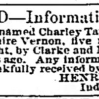 Henry Taylor searching for his son Charley Taylor