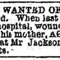 Agnes Watts searching for son John Warren Watts