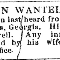 Lucy Walker looking for information about her husband Anderson Walker