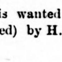 H. W. Marshall searching for James Marshall