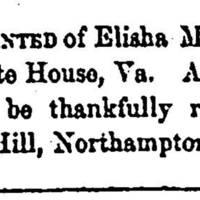 Phillip Merryday seeks Elisha and Major Merryday