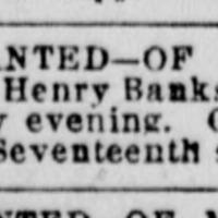 Mrs. Johnston searching for Richard Henry Banks