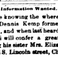 Mrs. Elizabeth Pettiford searching for brother