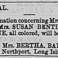 Bertha Ballton searching for three people