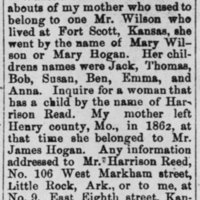 L. A. Jackson searching for his mother Mary Wilson/Mary Hogan
