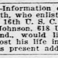 Kate Johnson searching for her brother James Allensworth