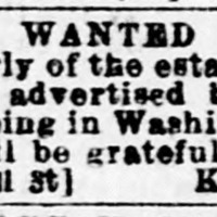 Kesiah Abell searching for her daughter, Margaret Abell [aka Margaret Abel] (1st of 3 ads placed by Kesiah Abell)