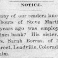 Sarah Borras searching for Steve Martin