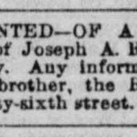 The Rev. Zachariah A. Roker searching for his brother