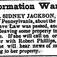 Robert Phillips searching for Sidney Jackson