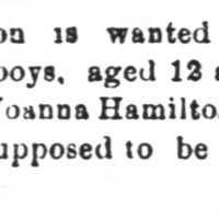 Joanna Hamilton searching for her sons