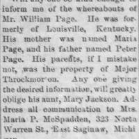 Mrs. Maria P. McSpadden 11-27-1884.tif