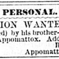 R.B. Poore searching for his brother-in-law, J.W. Hill
