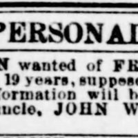 John Woodford searching for his nephew Frank Whipps