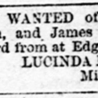 Lucinda Peoples searching for Lawton family