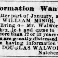 Unnamed searching for their son, William Minor