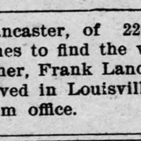 V.J. Lancaster searching for his brother, Frank Lancaster
