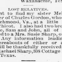 Rachael Sharp is looking for her siblings