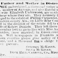 Stephen McKinny and Silva McKinny searching for their sons and daughter-in-law