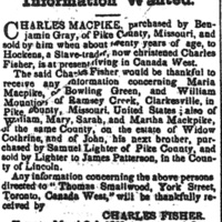 Charles (Macpike) Fisher searching for family