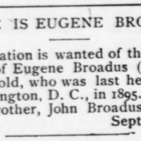 John Broadus searching for brother, Eugene Broadus