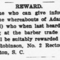 Sarah Robinson searching for Adam Horn/Adam Holmes