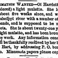 Nelson Hart searching for his sister Harriet Shipley