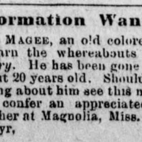 Frances Magee searching for her son