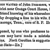 Susan Summers seeks husband John Summers