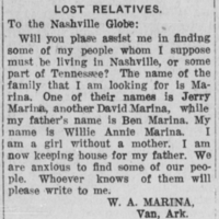 Willie Annie Marina searching for Marina relatives