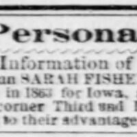 J. J. Redmond searching for Sarah Fisher and her son Frank