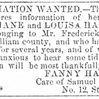 Fanny Harris is searching for her children
