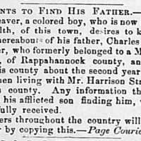 Charles D. Weaver searching for his father Charles Henry Weaver