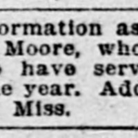Tyler Moore searching for Ed. Moore (5th of 5 ads placed)