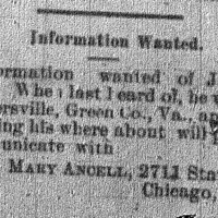 Mary Ancell looking for Joseph Gray