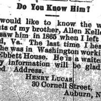 Henry Lucas searching for his brother Allen Kelley