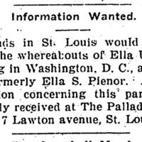 Friends in St. Louis looking for Ella Upshaw