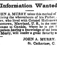John A. Murry searching for his father